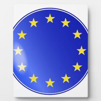 EU Button Plaque