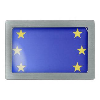 EU Button Rectangular Belt Buckle