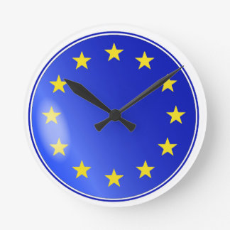 EU Button Round Clock