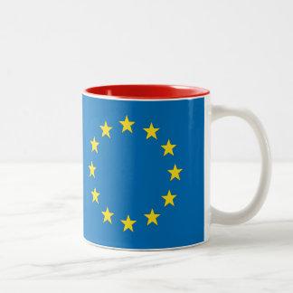 EU Europe Flag Two-Tone Coffee Mug
