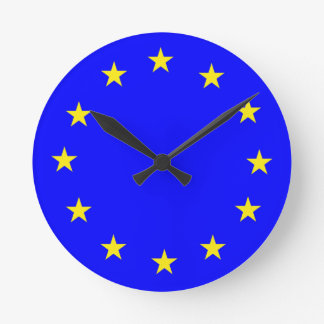 EU European flag Round Clock
