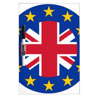 EU - European Union Flag - Union Jack Dry-Erase Whiteboards