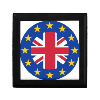 EU - European Union Flag - Union Jack Trinket Boxes