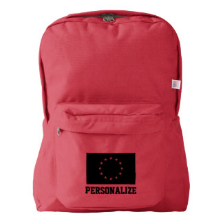 EU flag custom backpack