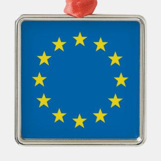 EU flag (European Union) Christmas decoraction Metal Ornament