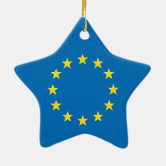 EU flag (European Union) Christmas star decoration