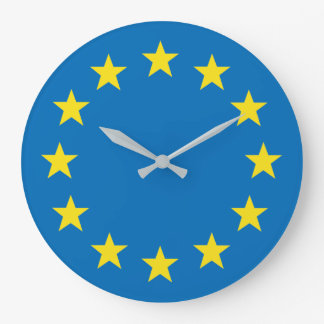 EU flag (European Union) clock