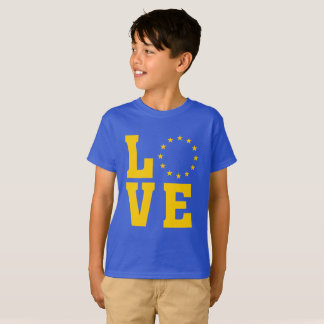EU Flag, European Union, LOVE T-Shirt