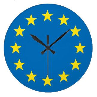 EU flag (European Union) round clock