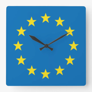 EU flag (European Union) wall clock