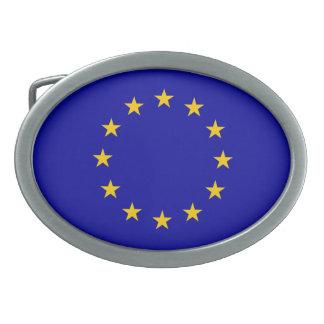 EU flag Oval Belt Buckle