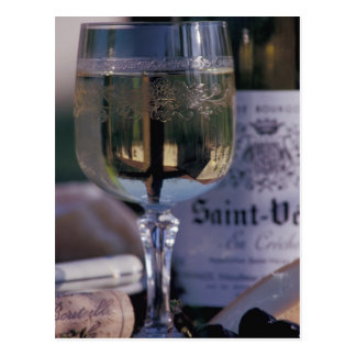 EU, France, Chablis, Local wine Postcard