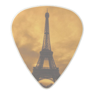 EU, France, Paris.  Eiffel Tower. Acetal Guitar Pick