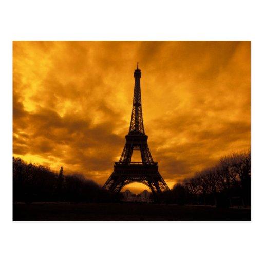 EU, France, Paris.  Eiffel Tower. Postcard