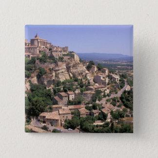 EU, France, Provence, Luberon, Gordes 2 Inch Square Button
