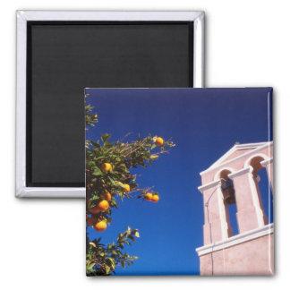 EU, Greece. Greek Orthodox church Square Magnet