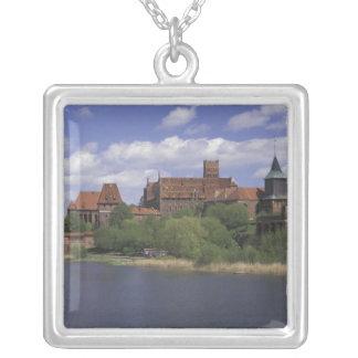 EU, Poland, Pomerania, Malbork. Europe's Silver Plated Necklace