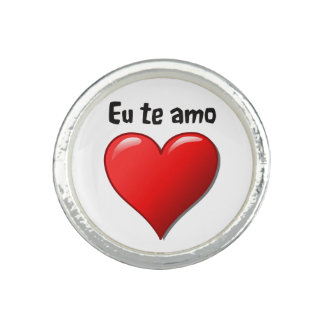 Eu te amo - I love you in Portuguese Ring