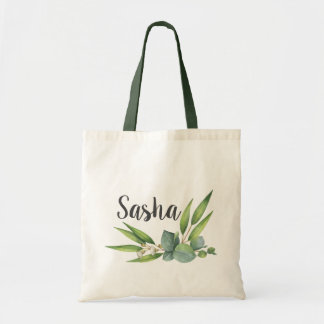 Eucalyptus Foliage Bouquet Personalized Tote Bag