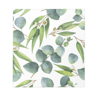 Eucalyptus Foliage Pattern Notepad