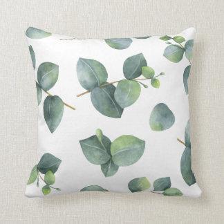 Eucalyptus Foliage Pattern Throw Pillow