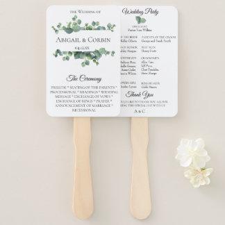 Eucalyptus Leaves Wedding Hand Fan