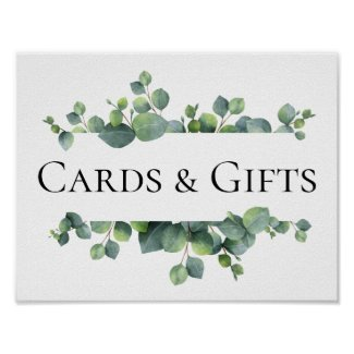Eucalyptus Leaves Wedding Poster