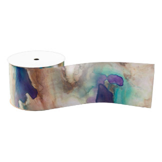 Eucalyptus Watercolor Ribbon Grosgrain Ribbon