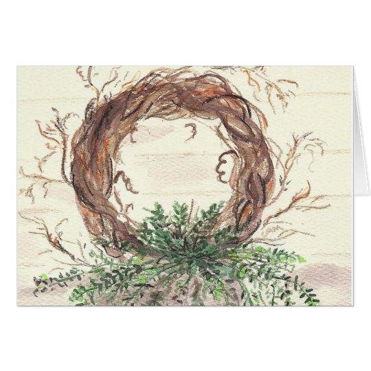 Eucalyptus Wreath Card