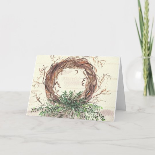 Eucalyptus Wreath Christmas Card