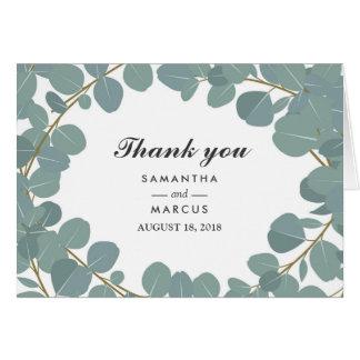 Eucalyptus Wreath Greenery Wedding Thank You Card