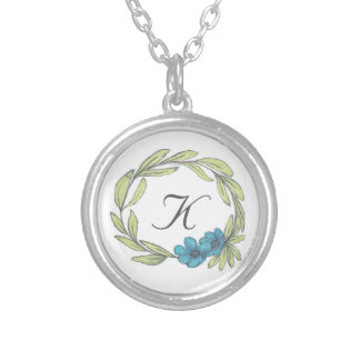 Eucalyptus Wreath Silver Plated Necklace