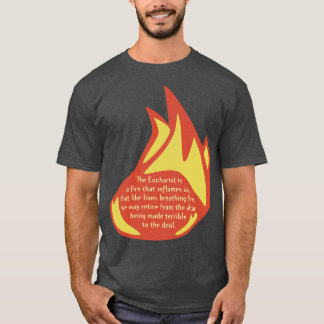 Eucharist Flame Full Front T-Shirt