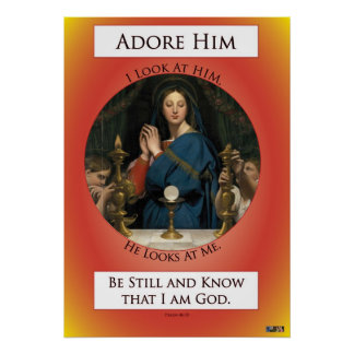Eucharistic Adoration Poster