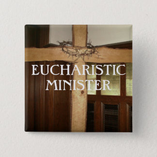 EUCHARISTIC MINISTER 2 INCH SQUARE BUTTON