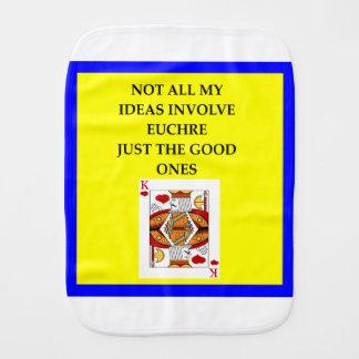 EUCHRE BURP CLOTH