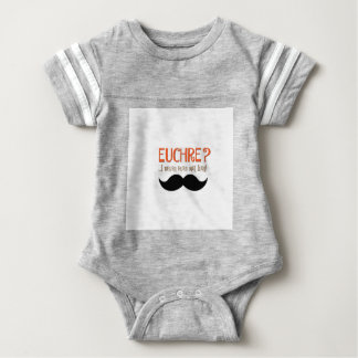EUCHRE? I Never Even Met Her! Baby Bodysuit