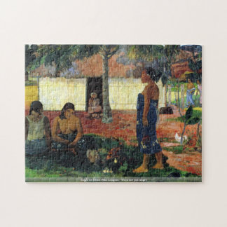 Eugène Henri Paul Gauguin - Whya are you Angry Jigsaw Puzzle