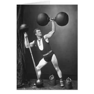 Eugen Sandow Strongman Card