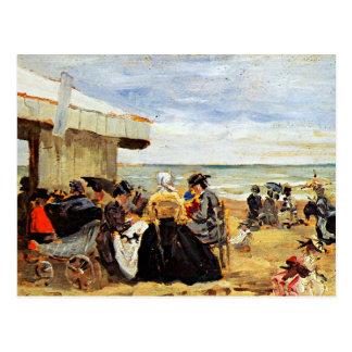 Eugene Boudin: A Beach Scene Postcard