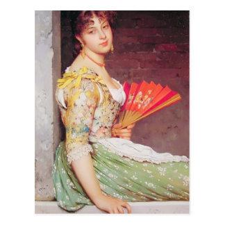 Eugene de Blaas- Daydreaming Postcard