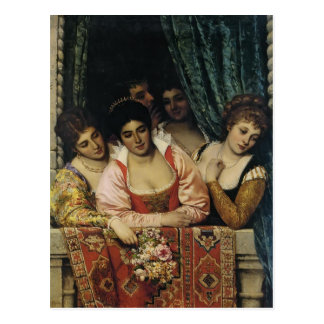 Eugene de Blaas- Ladies on a Balcony Postcard