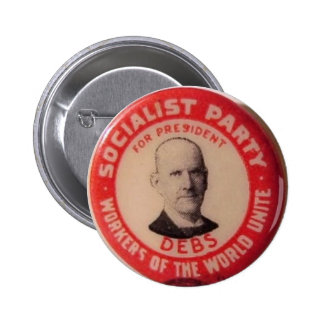 Eugene Debs reproduction pin