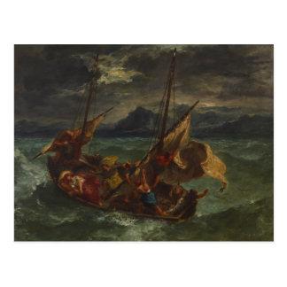 Eugene Delacroix - Christ on the Sea of Galilee Postcard