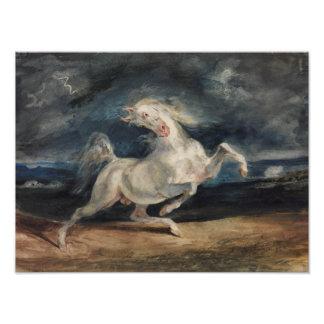 Eugene Delacroix - Horse Frightened by Lightning Art Photo