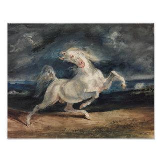 Eugene Delacroix - Horse Frightened by Lightning Photo