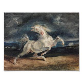 Eugene Delacroix - Horse Frightened by Lightning Photo Art