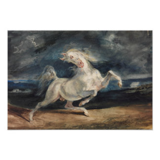 Eugene Delacroix - Horse Frightened by Lightning Photographic Print