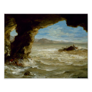 Eugene Delacroix - Shipwreck on the Coast Poster
