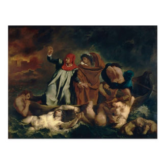 Eugene Delacroix- The Barque of Dante Postcard